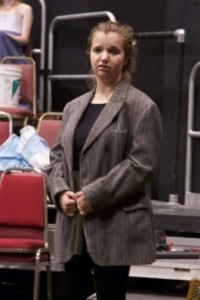 Hanna Bayer '17 rehearses for Sherlock Holmes. DREW PERLMUTTER/THE BATES STUDENT