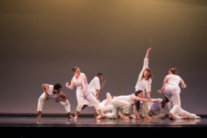 """The group runs """"How to Make a Moon"""" in dress rehearsal. DREW PERLMUTTER/THE BATES STUDENT"""